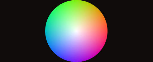 Example output from the ColorWheel class.